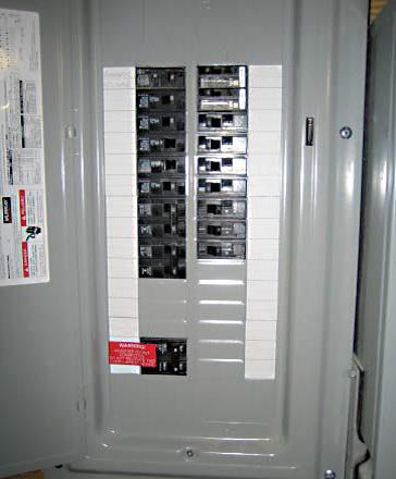 Electrical service panel with dedicated breaker for future PV system