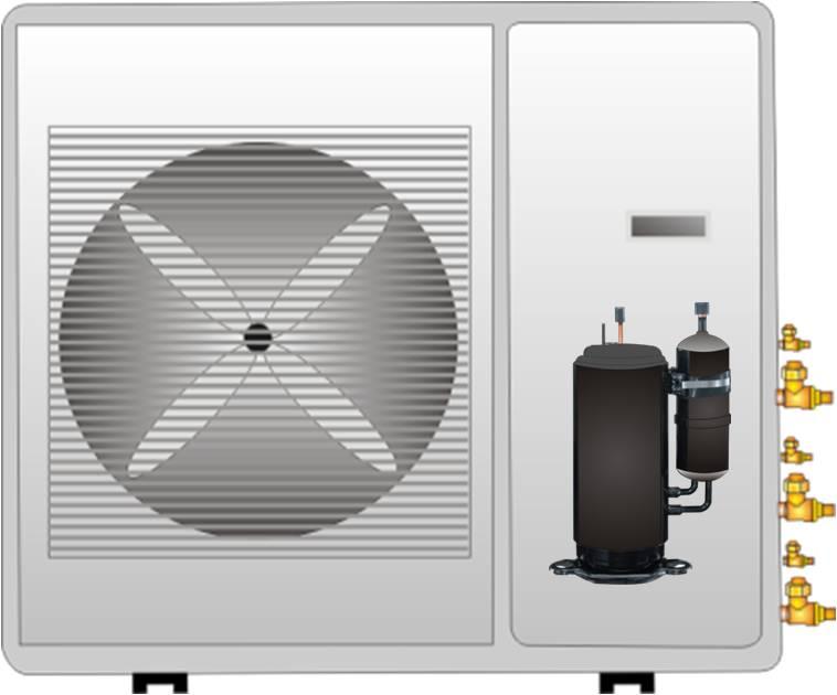 Digitally controlled inverter compressor