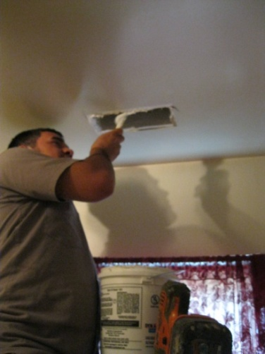 Manually seal around ceiling registers with mastic