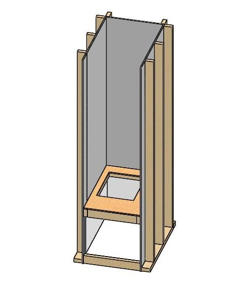 Install a plywood air handler platform on top of the new framing