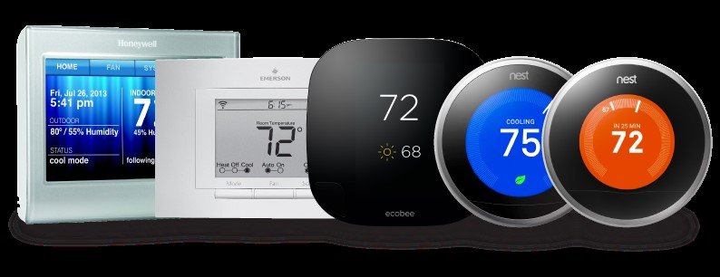 Internet-enabled, programmable thermostats allow homeowners to wirelessly and remotely monitor and control a home's heating and cooling