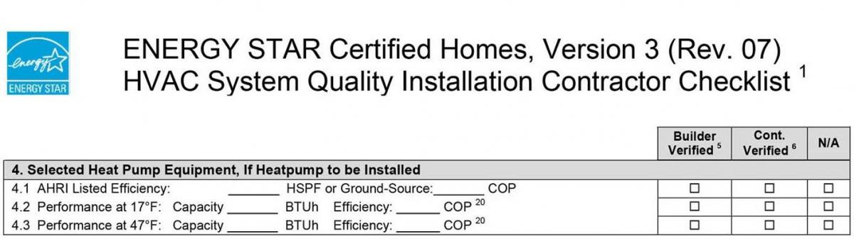 Selected Heat Pump Equipment, If Heatpump to be Installed