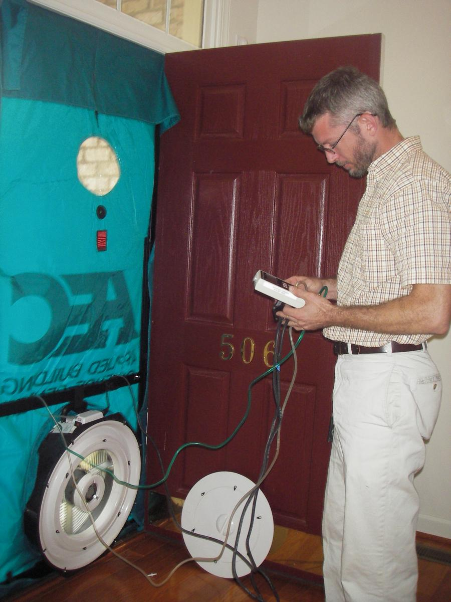 Blower door tests can be an important part of a home energy assessment