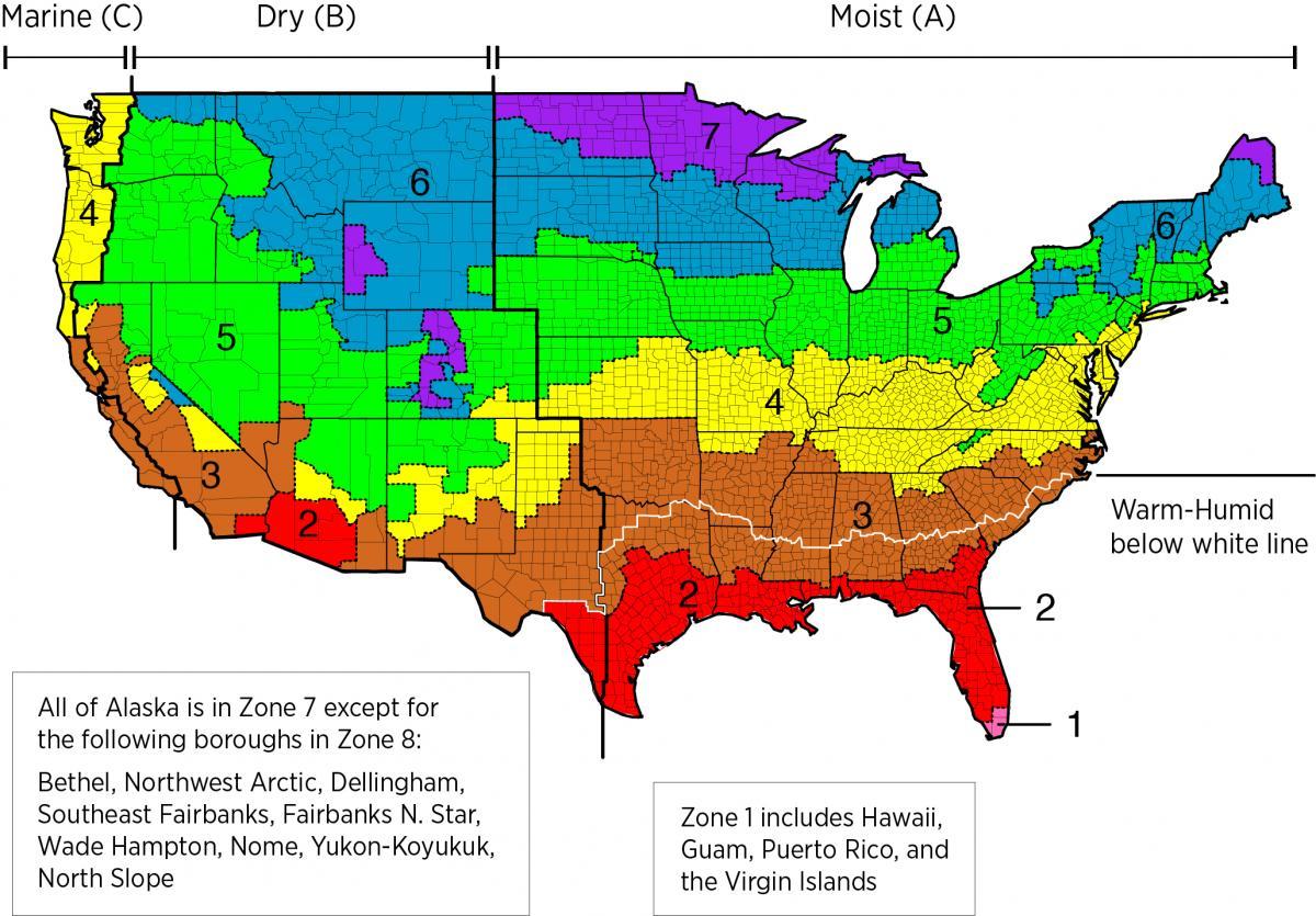 IECC climate zones