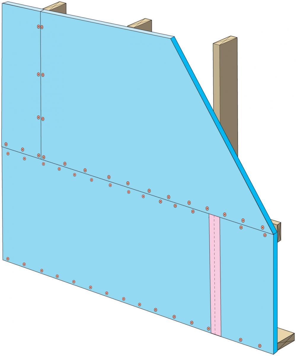 Install upper insulation