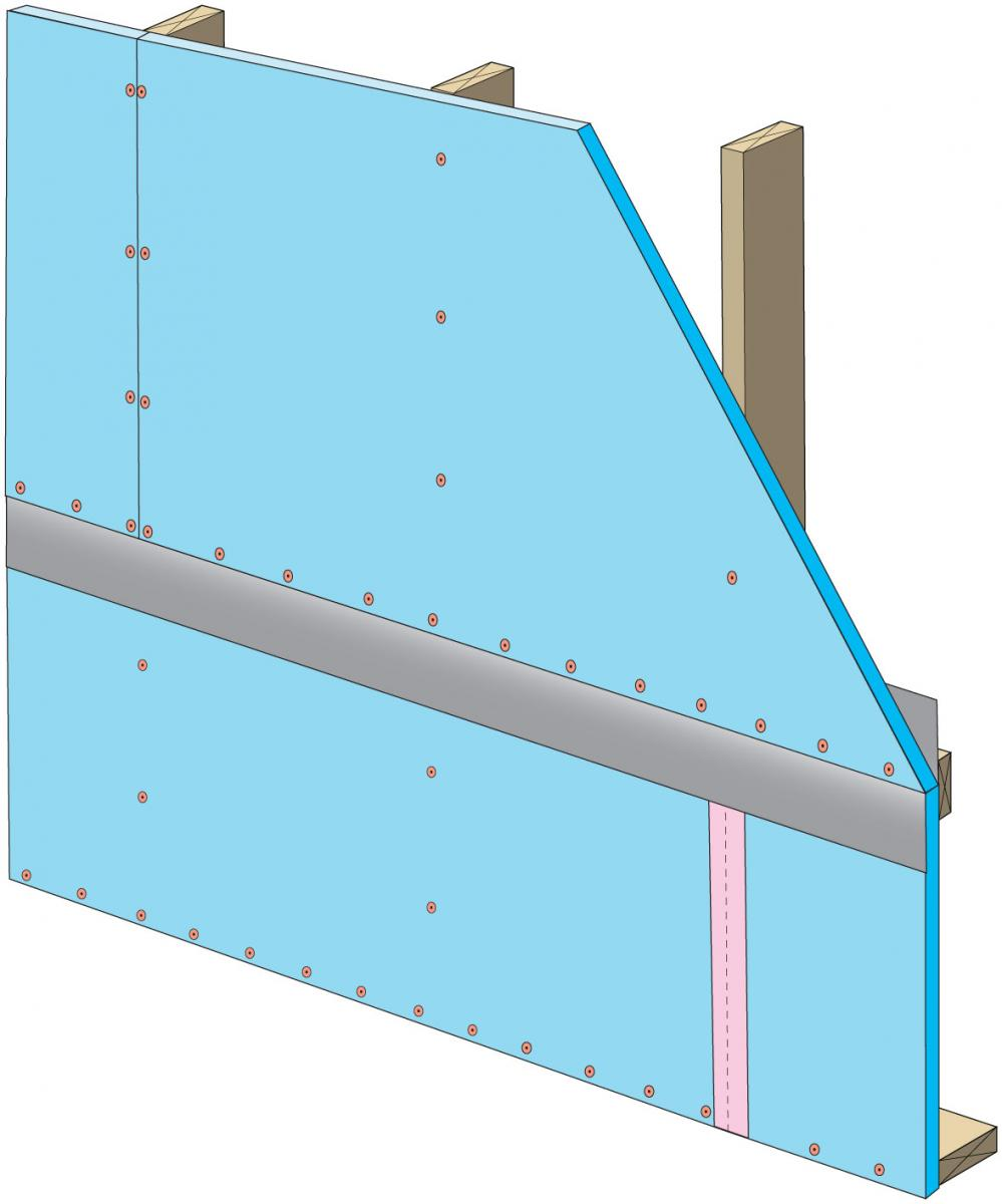 Install upper insulation per manufacturer's instructions