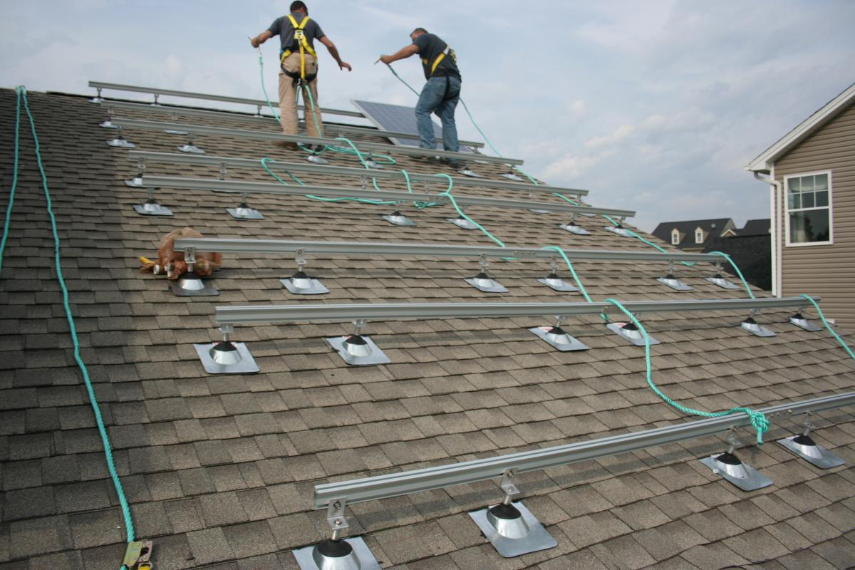 Roof Anchor System For Solar Panels Building America