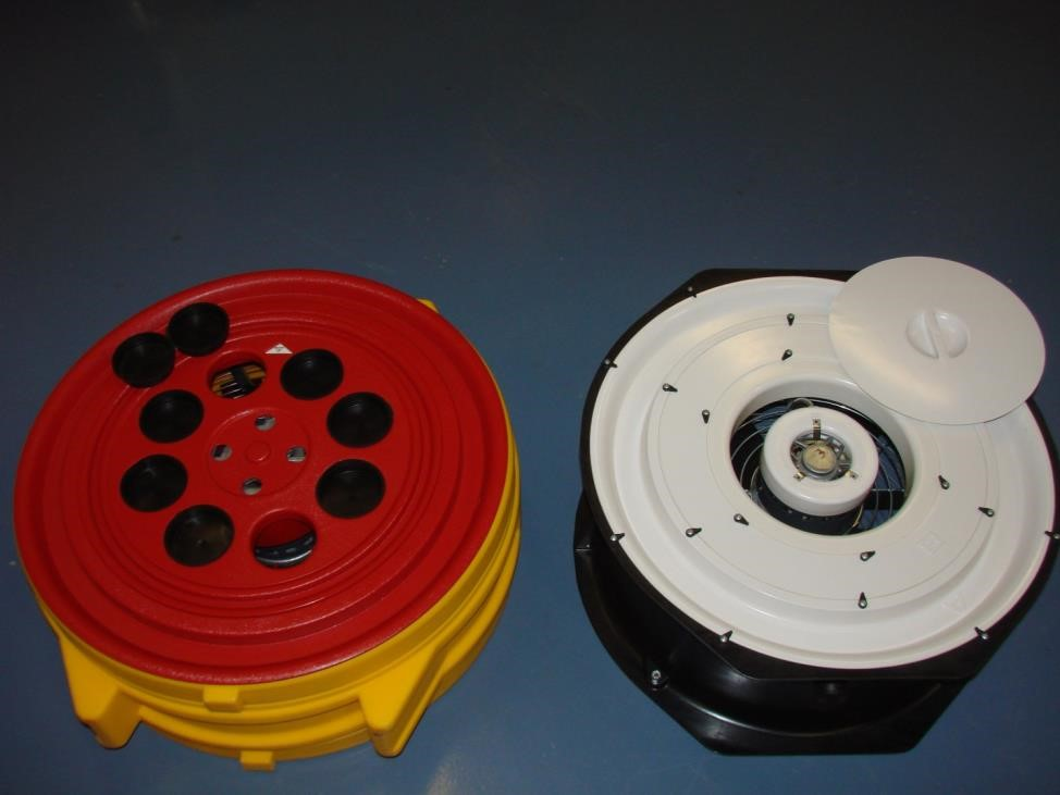 Figure 1. Calibrated blower door fans are used for envelope leakage testing