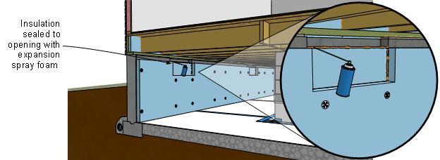 Seal crawlspace vents
