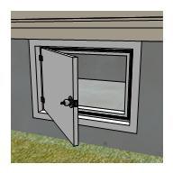 Insulate access door