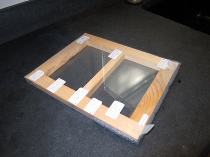 Interior removable storm window sample