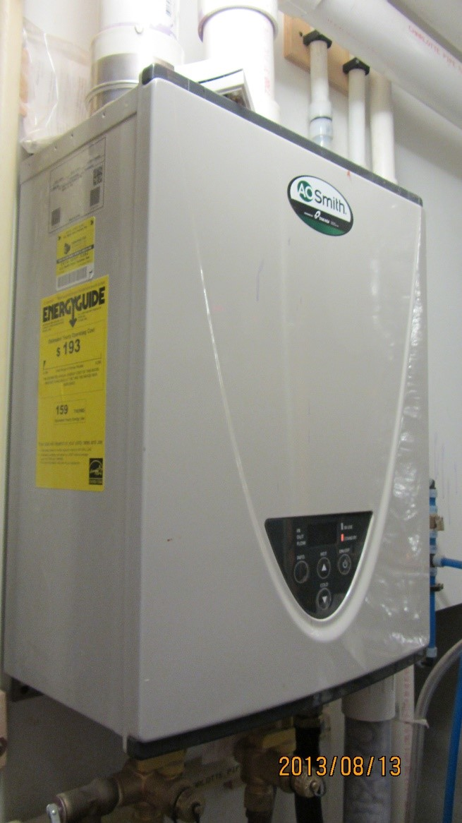 Compare gas tankless water heater efficiencies on the Energy Guide labels or look for the ENERGY STAR label.