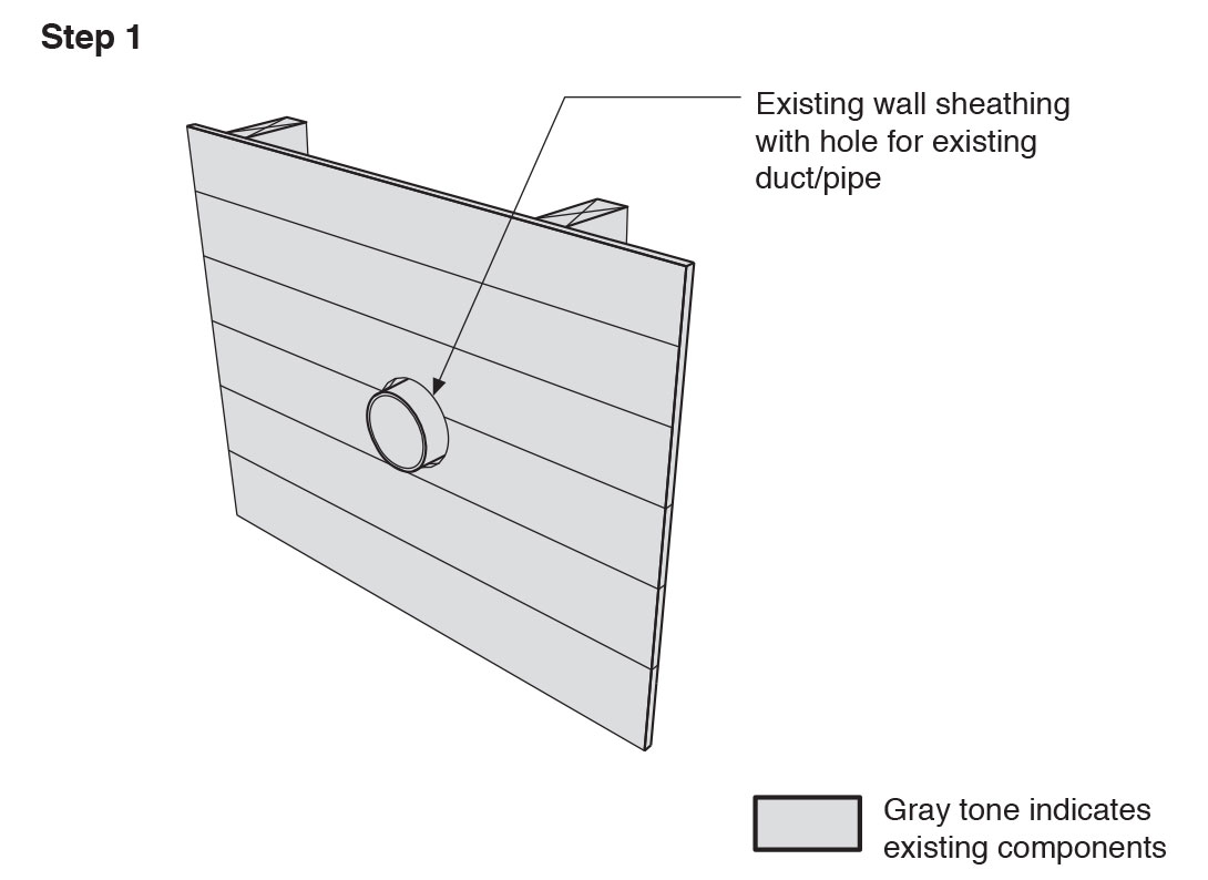 Remove the existing wall cladding to prepare to retrofit an exterior wall