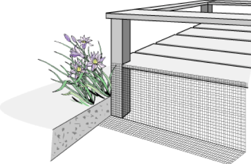 Install a fence to keep animals from nesting under decks, porches, and cantilevers