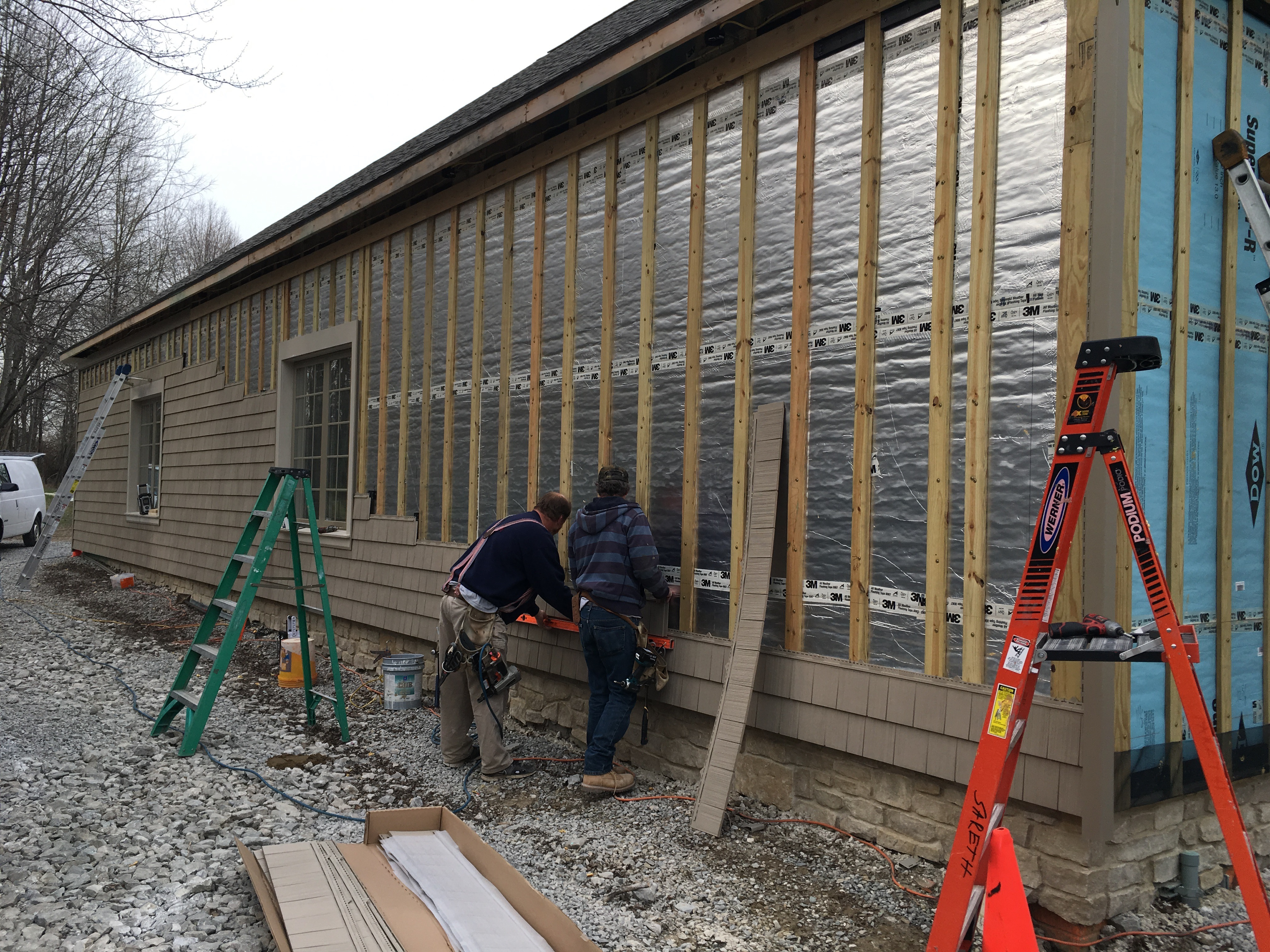 Furring Strips Are Installed Over A Foil Faced Rigid Foam Sheathing To Provide A Drainage Plane And Ventilation Gap Behind Siding Building America Solution Center