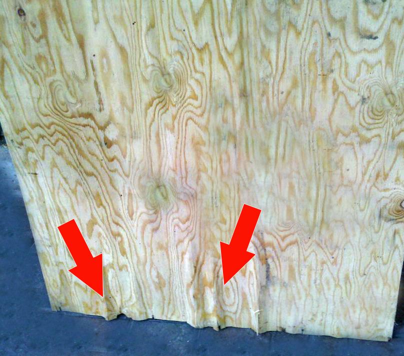 Delaminated Plywood