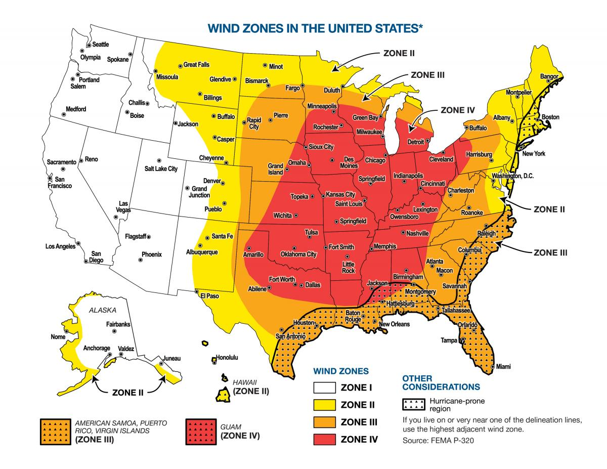Wind Zones in the U.S.