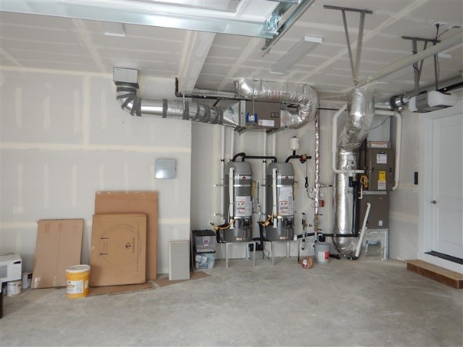 No Ducts Or Air Handlers Located In Garage Building