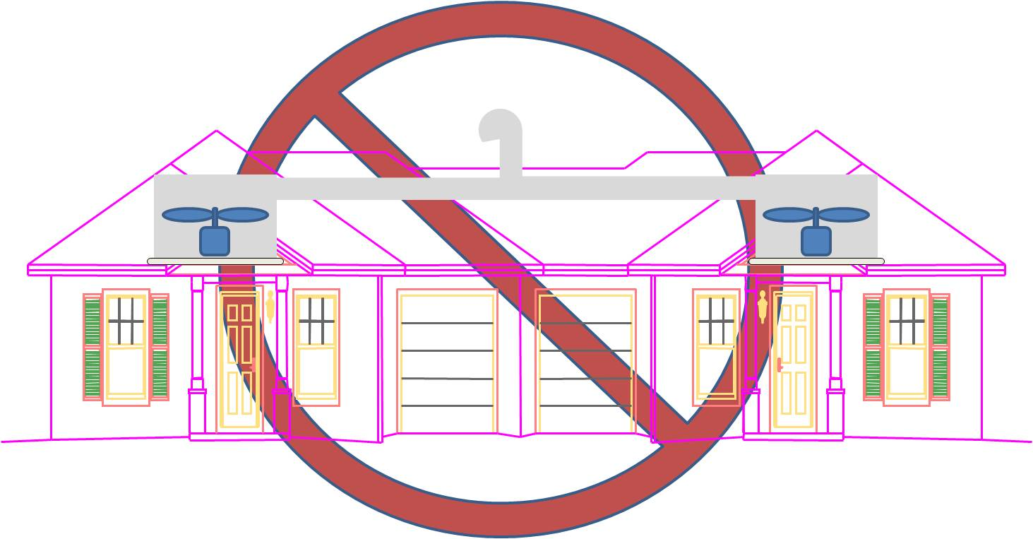 Exhaust fans in separate dwelling units should not share a common exhaust