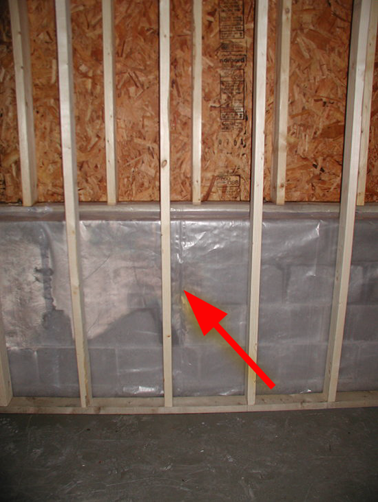 Water passing through the foundation wall is unable to dry to the interior resulting in compromised indoor air quality
