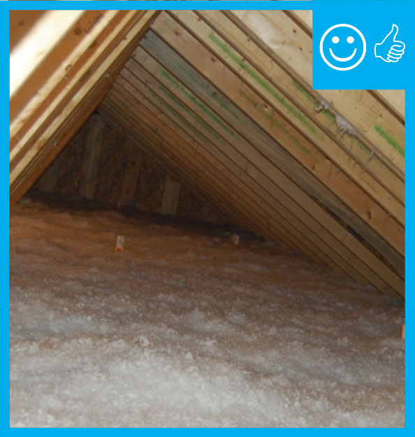 Ducts Buried In Attic Insulation And Encapsulated
