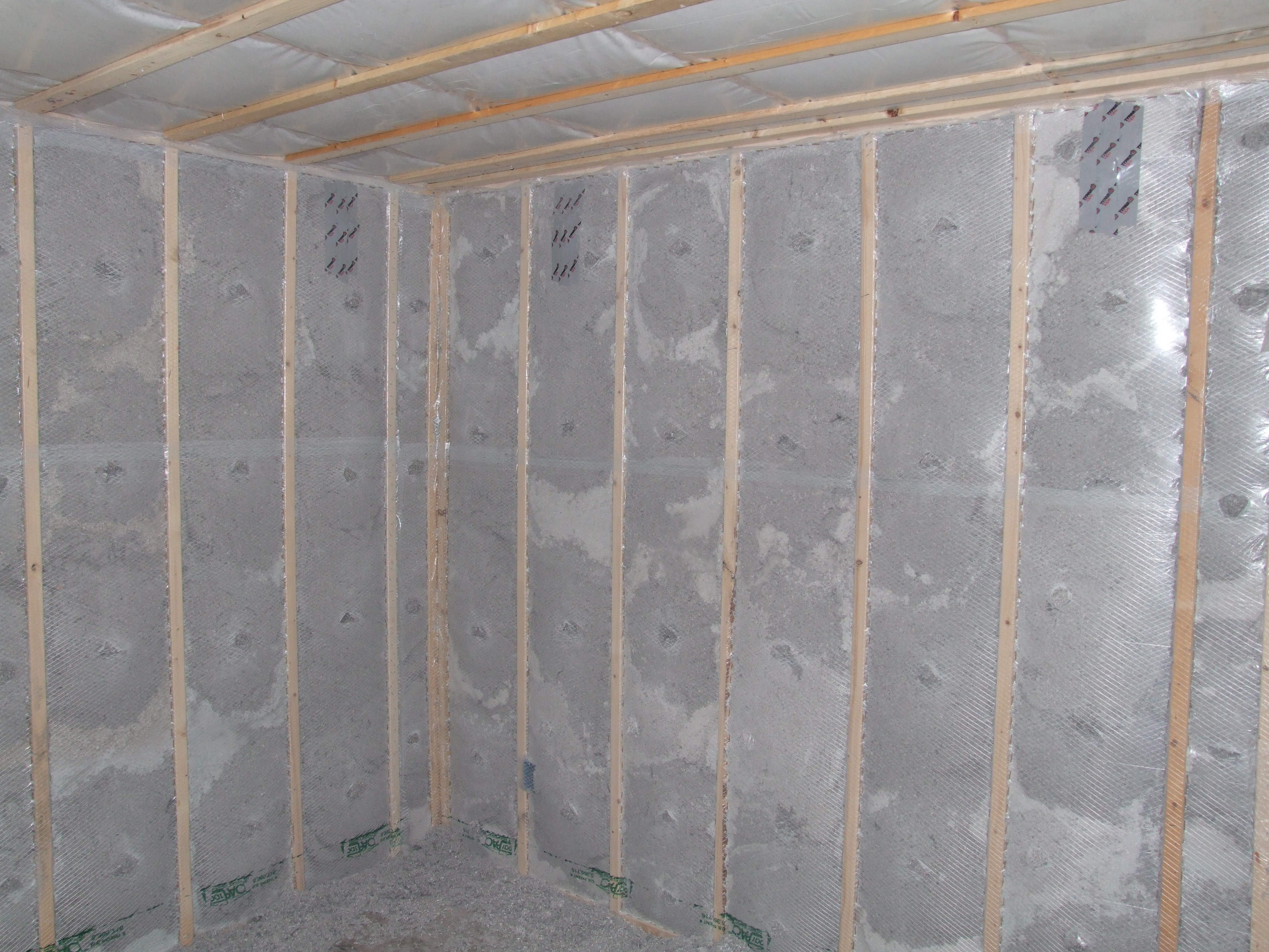 No Insulation In Walls : Insulation installation resnet grade building