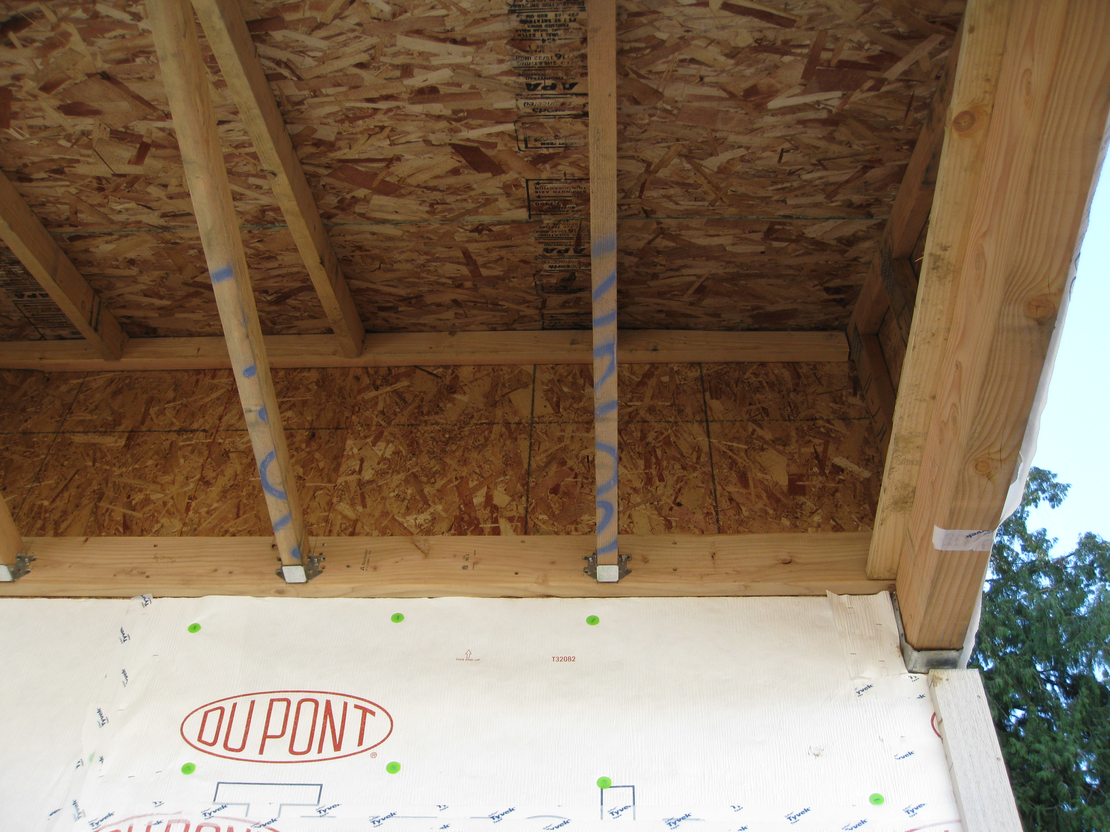 Walls adjoining porch roof building america solution center for Exterior wall sheeting