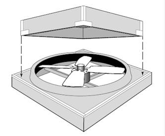 Insulated whole-house fan cover