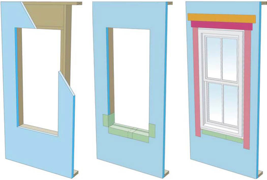 Proper flashing around windows is especially important when the rigid foam serves as the drainage plane in the wall