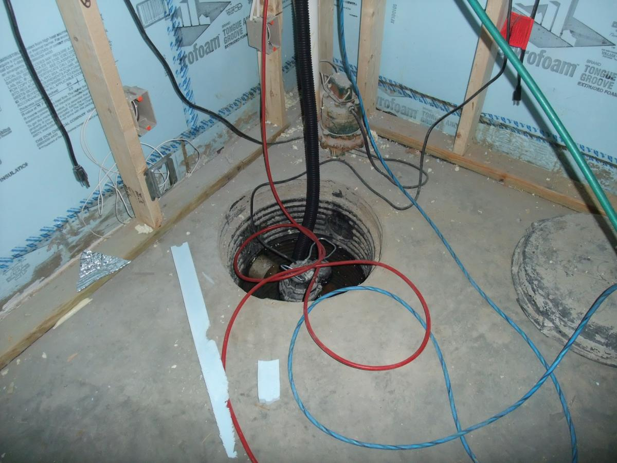 Install the sump pump