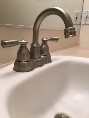 Keep service water pressure at or below 60 psi in the home to reduce the likelihood of leaking faucets and ruptured pipes or hoses.