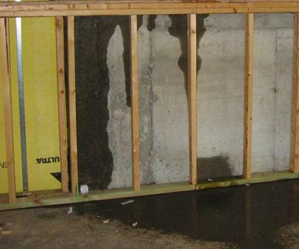Moisture Infiltration in Below-Grade Wall