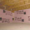 Right - This unvented crawlspace is insulated along interior walls with rigid foam and air sealed by covering the floor with vapor retarder that is sealed to the rigid foam which is taped at the seams.