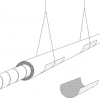 Sheet metal saddles support the flex duct to prevent sagging