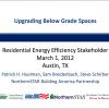 Upgrading Below Grade Spaces