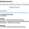 Building America Webinar: Stump the Building Science Chump - Codes Panel