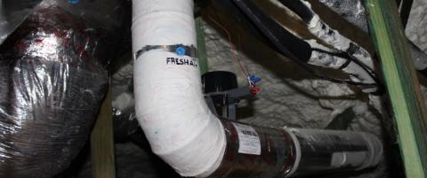 Supply integrated with HVAC system