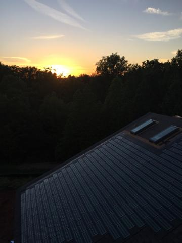Power production from the Integrated solar shingles helps cut electric bills to $71 a month for this home in North Carolina.