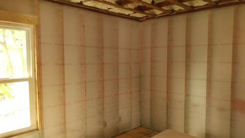 A gut rehab that includes drywall removal provides the opportunity to thoroughly insulate the walls.