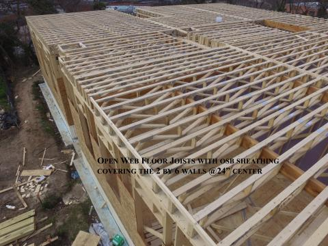 The Open Web Roof And Floor Joists Laminated Beams And I Beams Reduce Raw Lumber Use And Increase Load Bearing Capacity While Resisting Shrinking Twisting Splitting And Warping Building America Solution Center