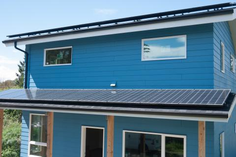 PV is installed on all available south-facing roof surfaces.