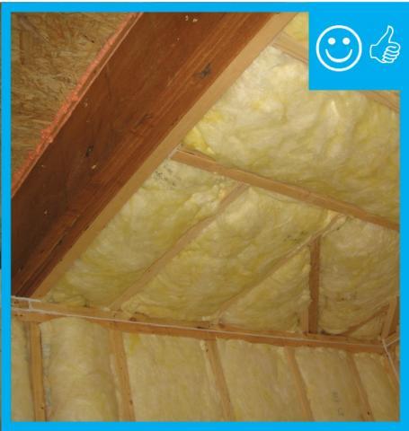 Right – RESNET grade I installation of batt insulation