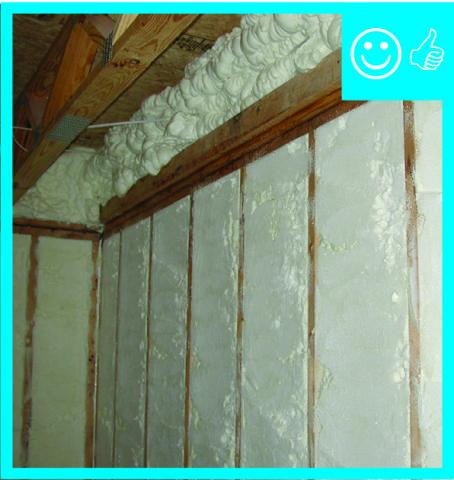 RESNET Grade I installation of spray foam insulation