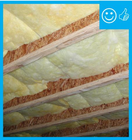 Right – Insulation is in contact with floor above
