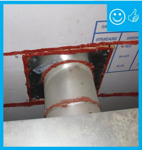 Right – Vent and air barrier sealed