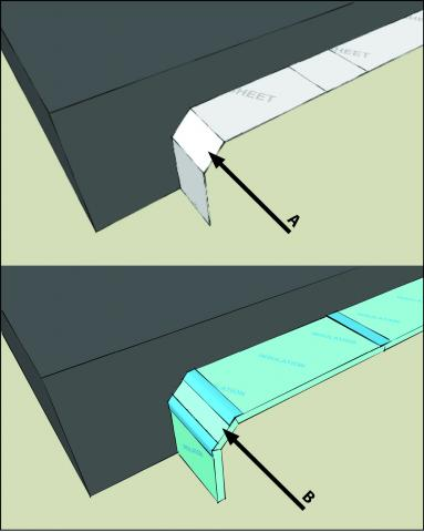 Polyethylene sheeting or rigid insulation over geotextile matting