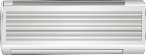 A wall-mounted ductless air handler for a ductless heat pump system