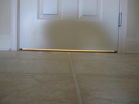 Door undercuts are commonly used to provide a return air pathway from rooms with closed doors