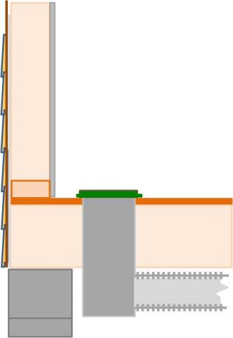 Install supply registers in floors or ceilings to avoid routing ducts through exterior walls