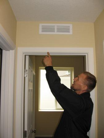 Installing transfer grilles is one way to balance pressures from room to room